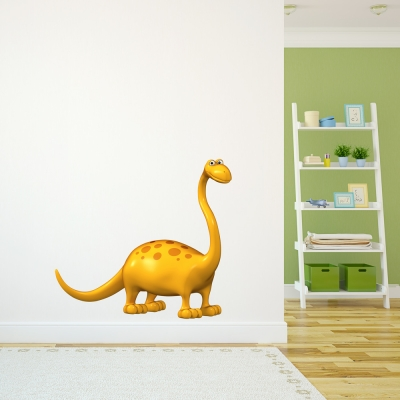 3D Brontosaurus Dinosaur Printed Wall Decal