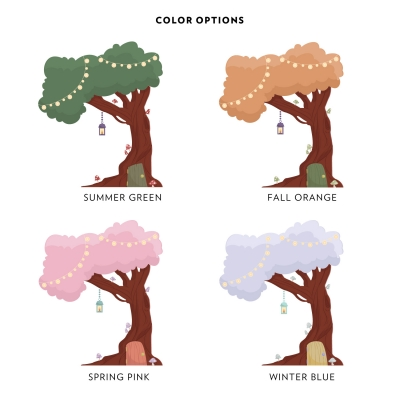 Enchanted Tree House Color Options