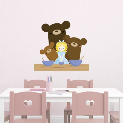 Goldilocks Printed Wall Decal