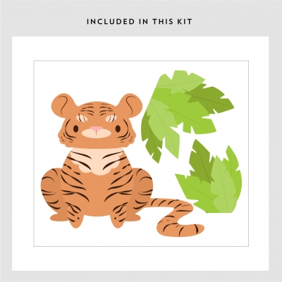 Little Tiger Wall Decal Kit