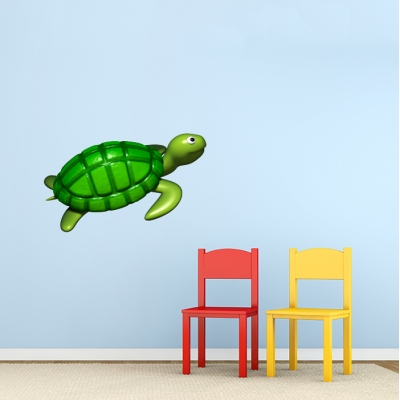 3D Sea Turtle Printed Wall Decal