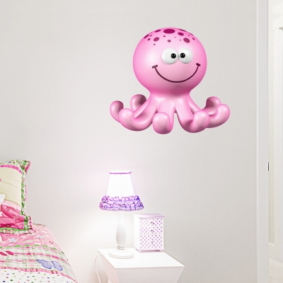 3D Octopus Printed Wall Decal