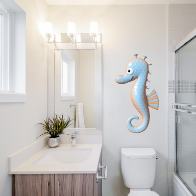 3D Seahorse Printed Wall Decal