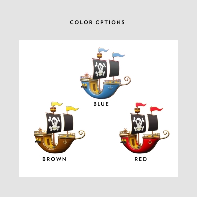 Pirate Printed Color Options