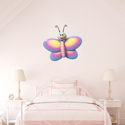 3D Colorful Butterfly Printed Wall Decal