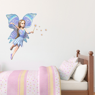 3D Blue Fairy Wall Decal