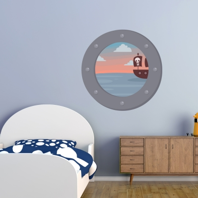 Sea Portholes Printed Wall Decals