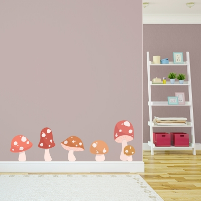 Toadstool Printed Wall Decal