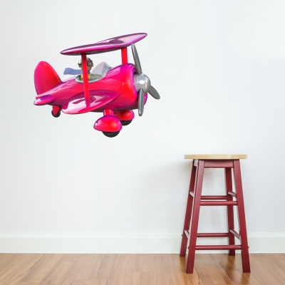 3D BiPlane Pink