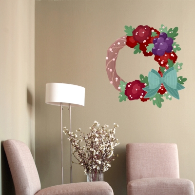 Winter Wreath Printed Wall Decal