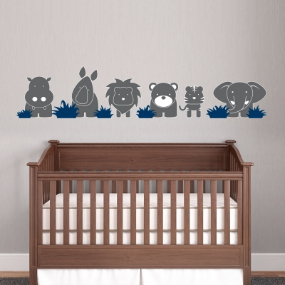 Zoo Babies Printed Wall Decals