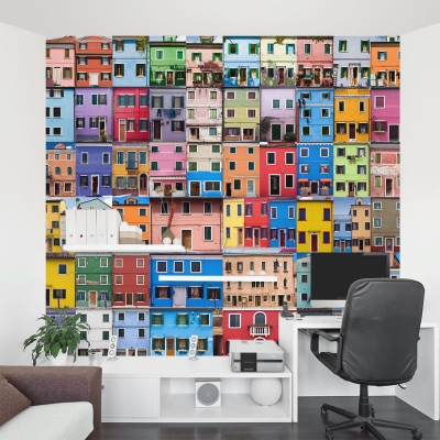 Colorful Venetian Homes Wall Mural