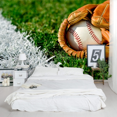 Baseball in a Glove Bedroom Wall Mural