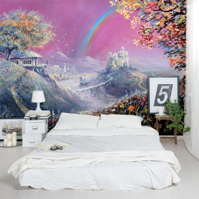 Enchanted Fairy Dream Land Bedroom Wall Mural
