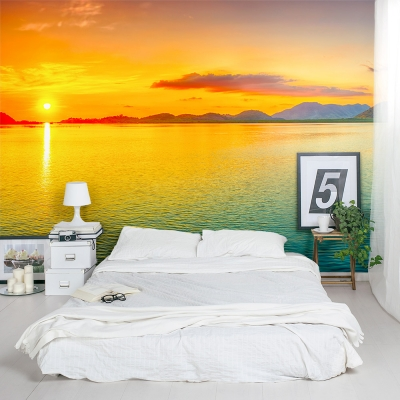 Colorful Ocean Sunset Wall Mural