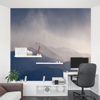 Stormy Mist Mountain Wall Mural