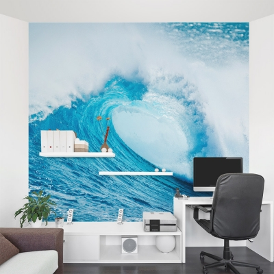 Wave Crash Wall Mural