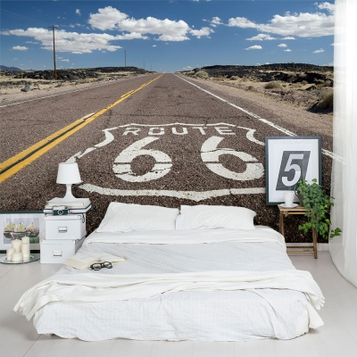 Historic Route 66 Wall Mural