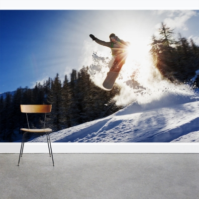Snowboard Jump Wall Mural