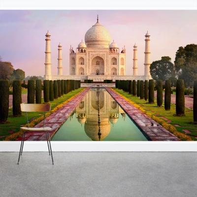 Morning at the Taj Mahal Wall Mural l