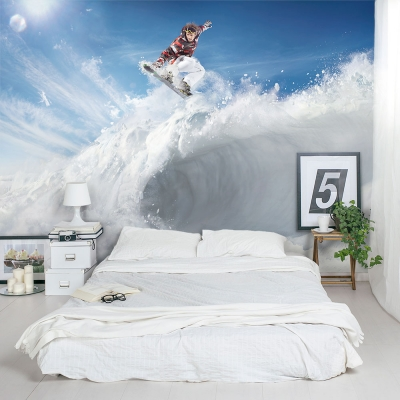 Snow Surfer Wall Mural