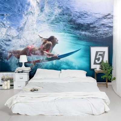 Underwater Surfer Wall Mural