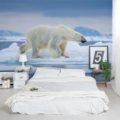 Wet Polar Bear Wall Mural