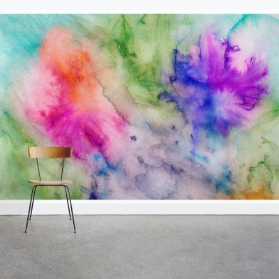 Color Drop Wall Mural