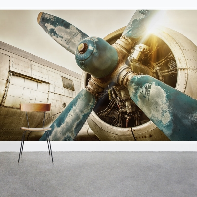 Vintage Jet Engine Wall Mural