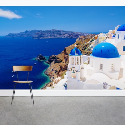 Santorini Escape Wall Mural