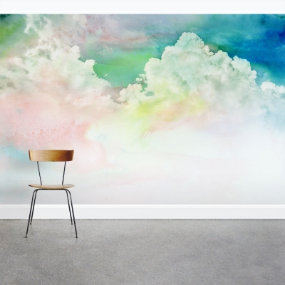 Stained Cloudscape Wall Mural