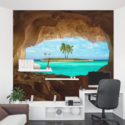 Remote Island Wall Mural