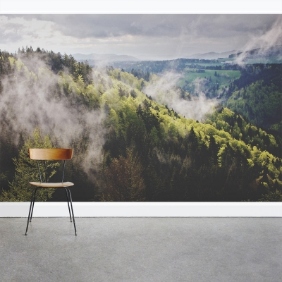Mist Forest Wall Mural