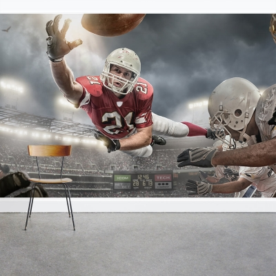 Football Action Wall Mural