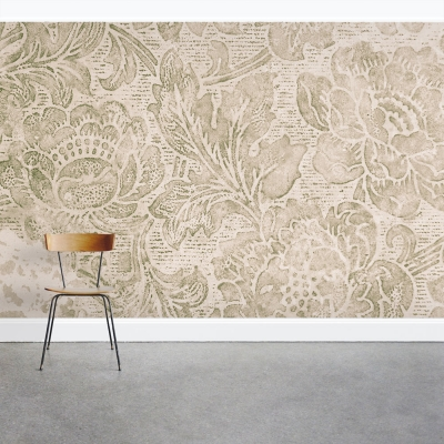 Classic Floral Pattern Wall Mural