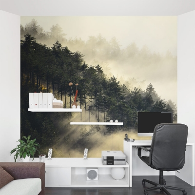 Fog Forest Wall Mural