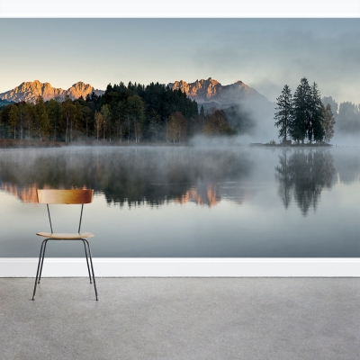 Lake Near the Alps Wall Mural