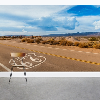 Road trip on Route 66 Wall Mural