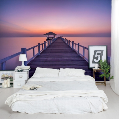 Bridge to Sunset Wall Mural