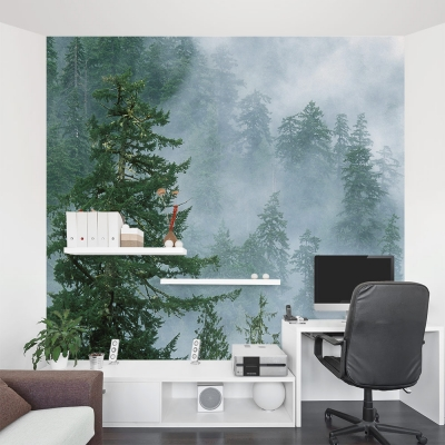 Evergreen Forest Mural Office