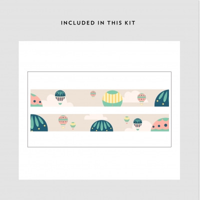 Hot Air Balloon Removable Border Kit