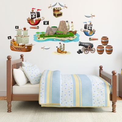 3D Pirate Adventure Kit Wall Decal