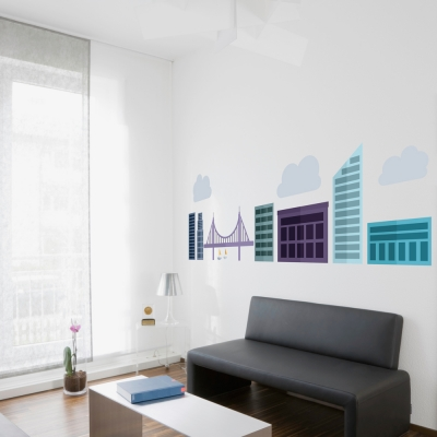 Urban Cityscape Printed Wall Decal