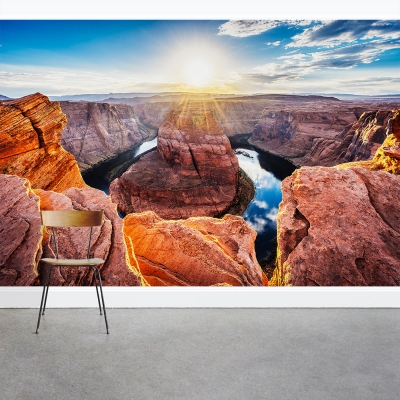 Sunset on Horseshoe Bend Wall Mural