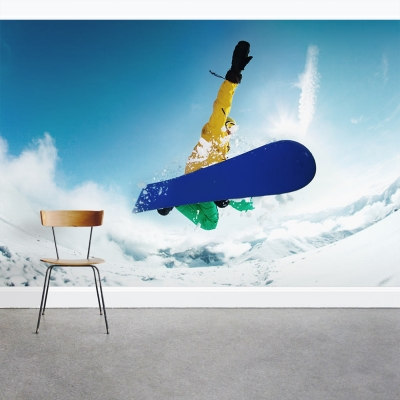Snowboard Action Wall Mural