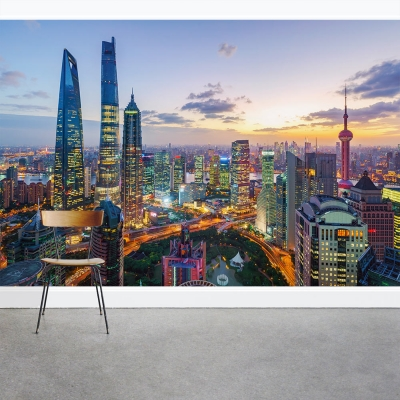 Shanghai in the Evening Wall Mural
