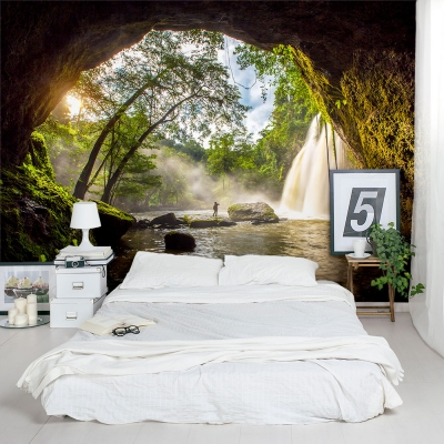 Waterfall Cave Wall Mural