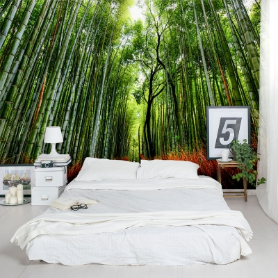 Bamboo Path Wall Mural