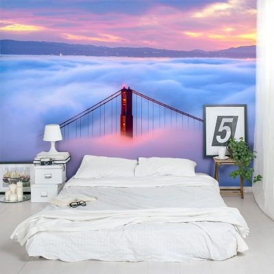 Fog over the Golden Gate Bridge Wall Mural