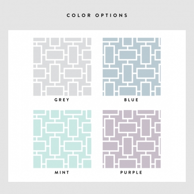 Box Reverse Removable Wallpaper Tiles